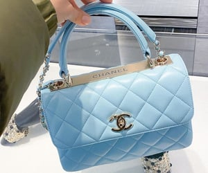 bag, blue, and chanel image