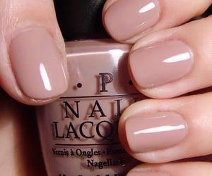 nails, Nude, and nail polish image