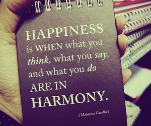 happiness, quotes, and harmony image
