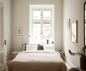 bedroom, beige, and design image