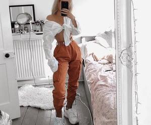 beauty, fashion, and orange image