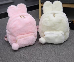 backpack, bag, and bunny image