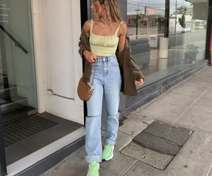 green top, outfit inspiration inspo, and colourful outfit image