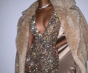 dress, fashion, and glitter image