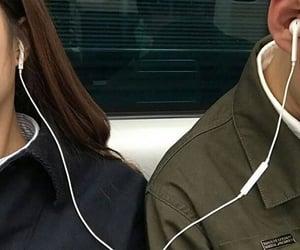 couple, music, and boy image