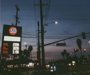 gas station and night image
