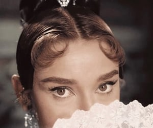 audrey hepburn, actress, and vintage image