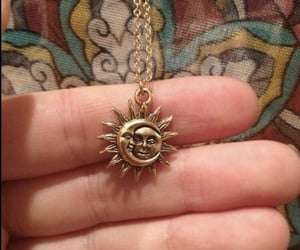 moon, sun, and necklace image