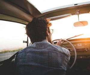 boy, driving, and denim jacket image
