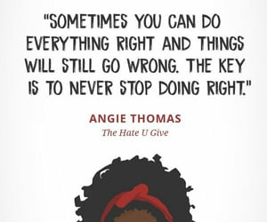 quotes, book, and the hate u give image