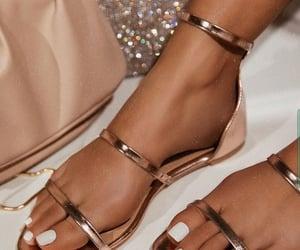 fashion, rhinestones, and sexy shoes image