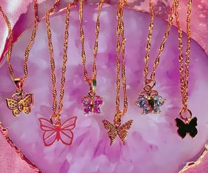 butterfly, necklace, and jewelry image