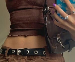 girl, outfit, and brown image