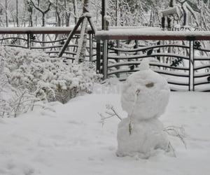 china, shanghai, and snowman image