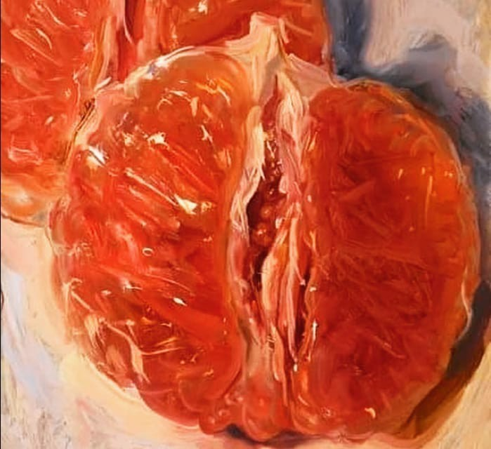 art, fruit, and paintings image