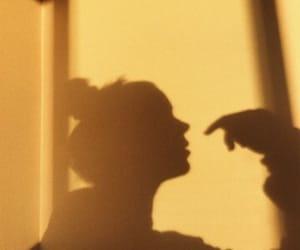 yellow, shadow, and aesthetic image