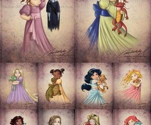 animation, childhood, and disney princess image