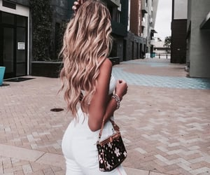 blonde, chic, and hair image