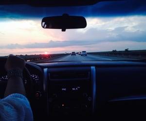 car, sky, and roadtrip image