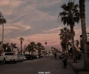 sky, sunset, and street image
