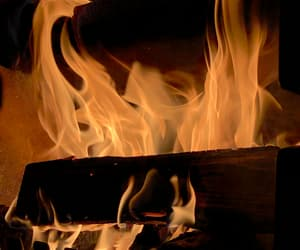 fire, fireplace, and flame image