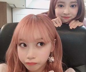 izone, kim chaewon, and kim minju image