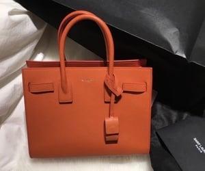 bag, fashion, and orange image