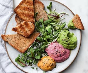 cranberry, hummus, and kale image
