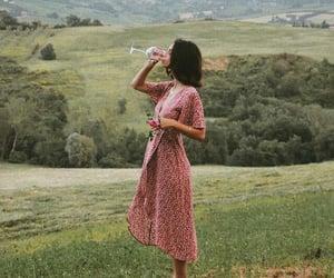 dress, wine, and nature image