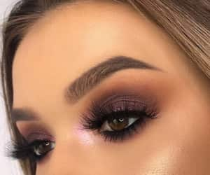 girl, lashes, and makeup image
