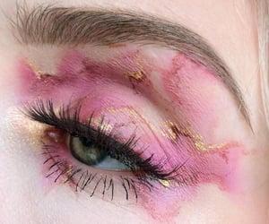 eye, pink, and makeup image