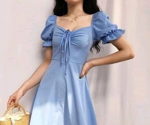 fashion, blue, and dress image