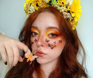 blush, sunflower, and festival makeup image