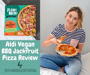 pizza, dairy free, and review image