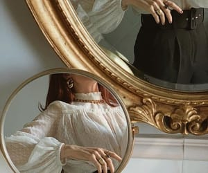 mirror, fashion, and gold image