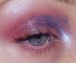 glitter, aesthetic, and blue eyes image