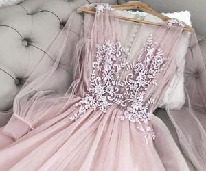 beauty, dress, and pink image