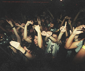 party, concert, and people image