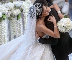 wedding, weddingdress, and bride image