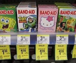 bandaids, childhood, and disney image