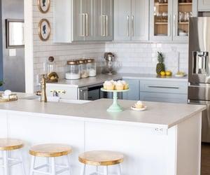 kitchen, modern kitchen, and kitchen decoration image
