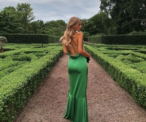 dress, blonde, and chic image
