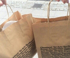 brown, aesthetic, and bag image