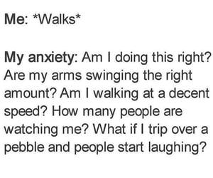 anxiety, haha, and memes image