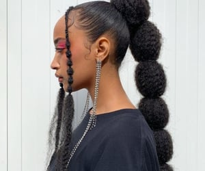 beauty, black girl, and braid image