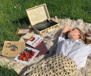 fashion, music, and picnic image