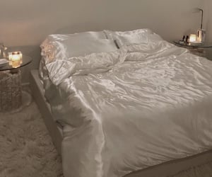 bedroom, silk, and aesthetic image