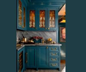 blue, dark blue, and decor image