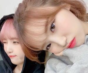 izone, kim chaewon, and choi yena image