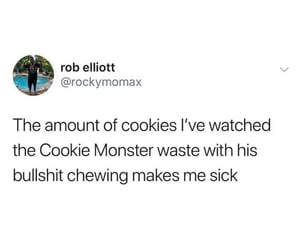 cookie monster, tv, and funny image